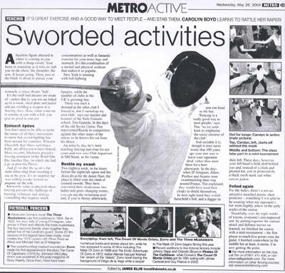 Article about fencing