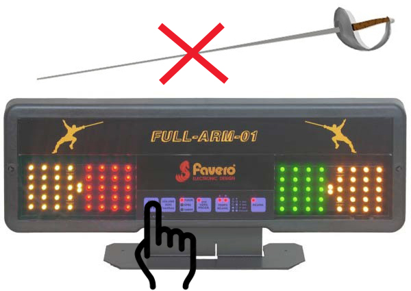 correct way to turn on favero scoring machine