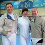 London Fencing in Athens: Will, Nadia and Olivier