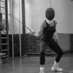 Fencing lesson en guarde