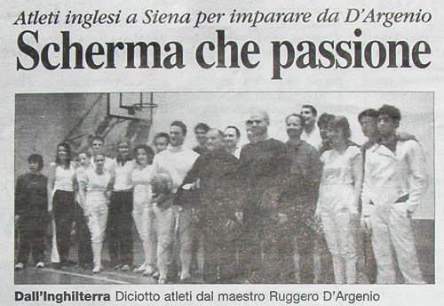 London Fencing Club trip to Siena Italy papers