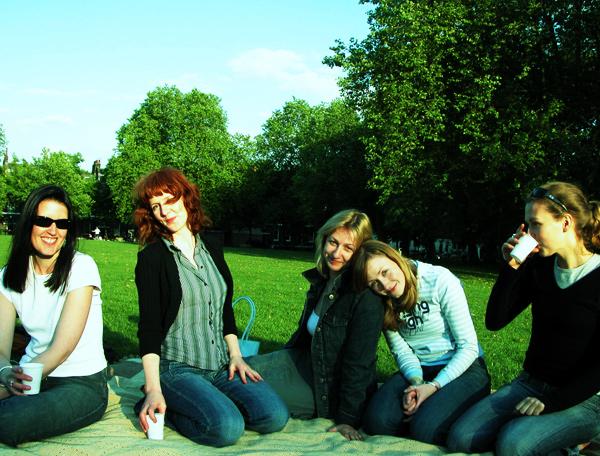 Fencing picnic in Islington Highbury