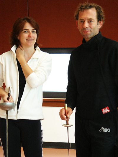 London fencing club trip to Dinard coaches Frank Priscille