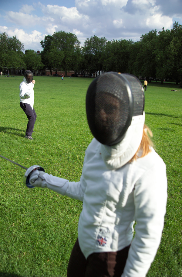 London Fencing picnic in Islington Sarah