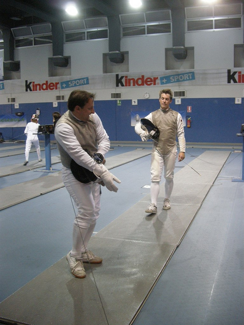 Adam and Richard London Fencing Club Trip to Turin