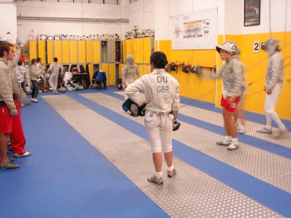 London Fencing Club Italian lakes trip sabreurs Varese