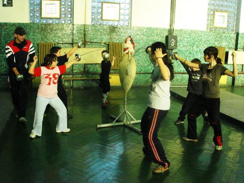 London Fencing Club trip to Satu Mare children fencing