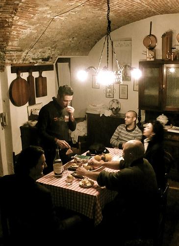 London Fencing Club Italian lakes trip kitchen