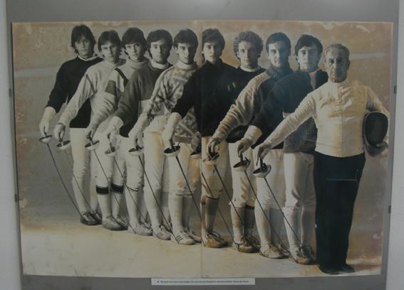 London Fencing Club Italian lakes trip salle Mangiarotti