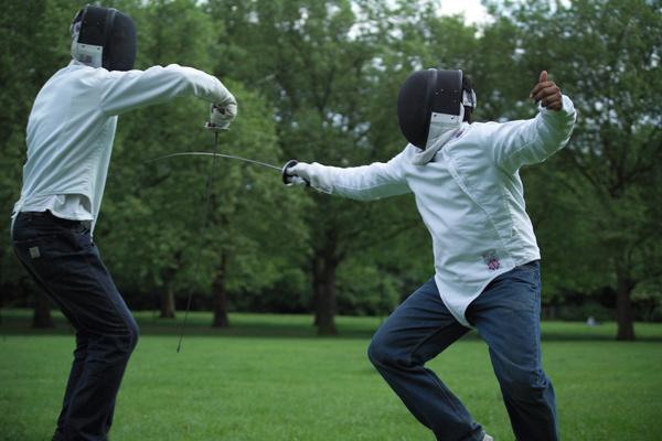 Fencing picnic in Islington