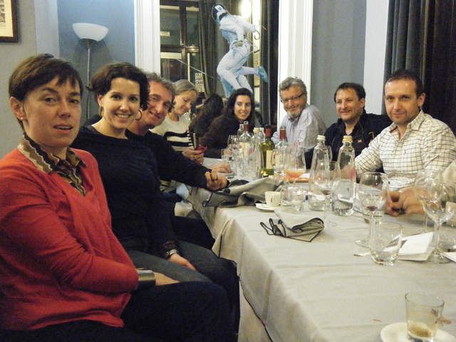 London Fencing Club Trip to Turin meal